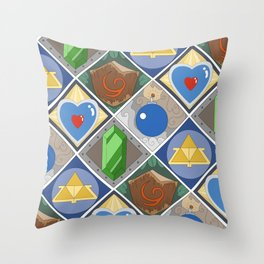Link's Pattern Throw Pillow