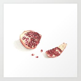 What I've been eating - pomegranate Art Print