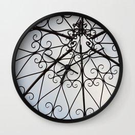Decorative Garden Railing Wall Clock