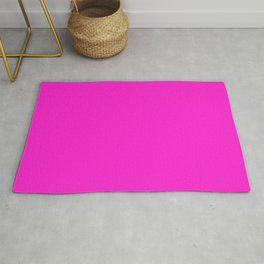 From The Crayon Box – Hot Magenta - Bright Neon Pink Purple Solid Color Rug