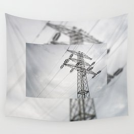 Electric power transmission Wall Tapestry