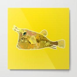 Yellow yellow boxfish Metal Print