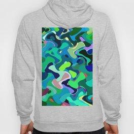 Deep underwater, abstract nautical print in blue shades Hoody