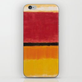 1949 Untitled (Violet, Black, Orange, Yellow on White and Red) by Mark Rothko iPhone Skin