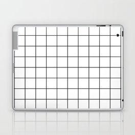 Grid Pattern Stripes Lines Black and White Minimalist Geometric Stripe Line Laptop & iPad Skin