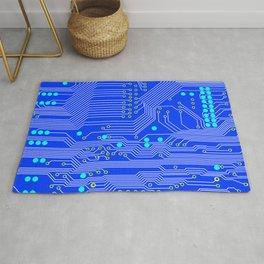 Blue Circuit Board  Rug