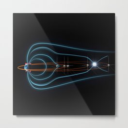 592. Tracking Space Weather Metal Print