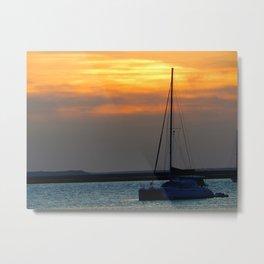 Amelia River Sunset Metal Print