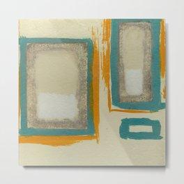 Soft And Bold Rothko Inspired - Corbin Henry Modern Art - Teal Blue Orange Beige Metal Print