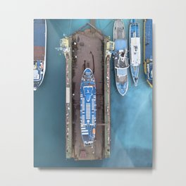not every ships are in the water Metal Print
