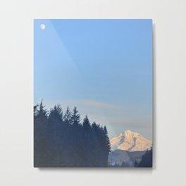 MOON OVER MT. HOOD OREGON Metal Print