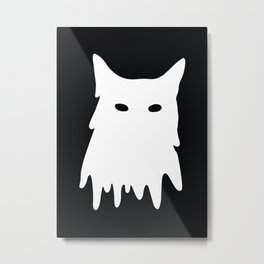 Cat Mask Metal Print