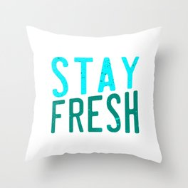 Literally stay fresh and cool with this awesome and unique tee design made for everybody! Throw Pillow