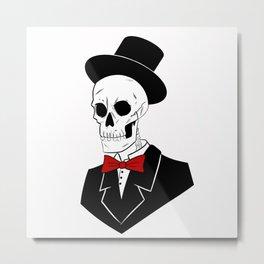 Mr. skull dude Metal Print