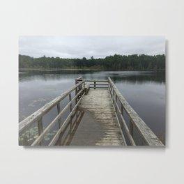 Swamped Dock Metal Print