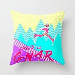 Shred the GNARski 01 Throw Pillow