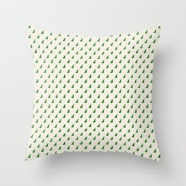 Holiday stockings - green Throw Pillow