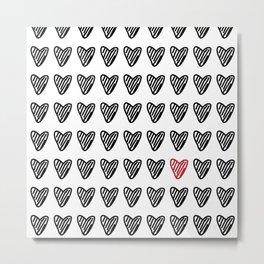 CUTE HEARTS PATTERN I Metal Print