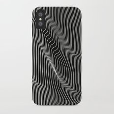 Minimal curves black iPhone X Slim Case