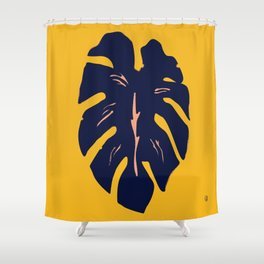 Gold Palm Shower Curtain