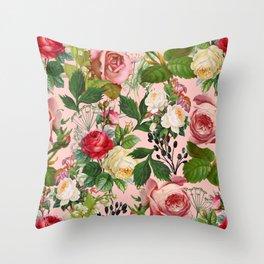Vintage Botanicalia #illustration #pattern #botanical Throw Pillow