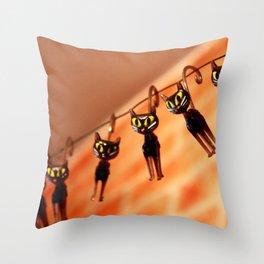 Cocktail cats Throw Pillow