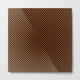 Black and Autumn Maple Polka Dots Metal Print