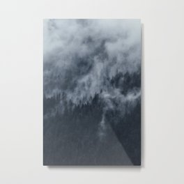 Alpine Misty Forest in Austria Metal Print