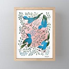 Birds in Spring Framed Mini Art Print