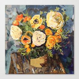 Tin Can Studio Floral #3 Canvas Print