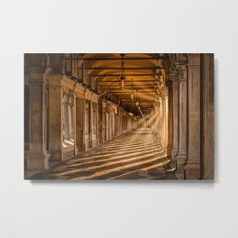 Venice – Sunrise under the arcades of Piazza San Marco Metal Print