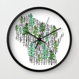 Wisconsin Forest Wall Clock