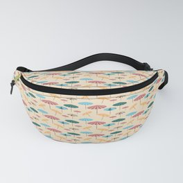 Retro beach parasol Fanny Pack