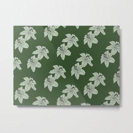 Lily The Tiger - Green Metal Print