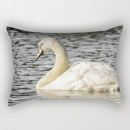 Swimming swan Rectangular Pillow