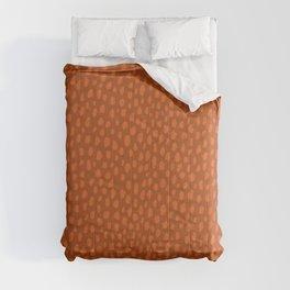 Burnt Orange Spots Comforters