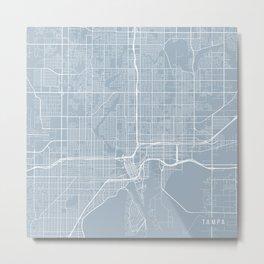Tampa Map, USA - Slate Metal Print