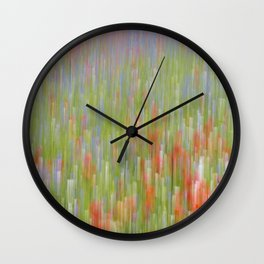 Abstract flowers of Castelluccio di Norcia Wall Clock
