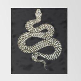 Snake's Charm in Black Throw Blanket