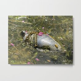 Turtle Fashion Metal Print