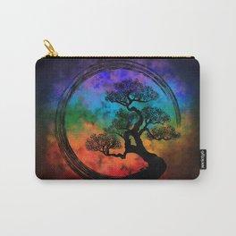 Enso Zen Circle and Bonsai Tree Nebula Carry-All Pouch