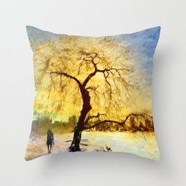 Walk Under the Willow Throw Pillow