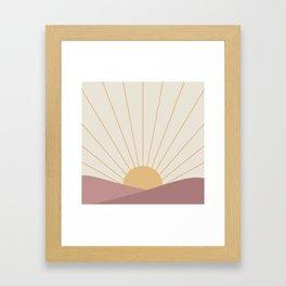 Morning Light - Pink Framed Art Print
