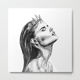 Mermaid Princess Metal Print