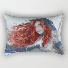 Freya the Shaman Official Art from Nordic Warriors Rectangular Pillow