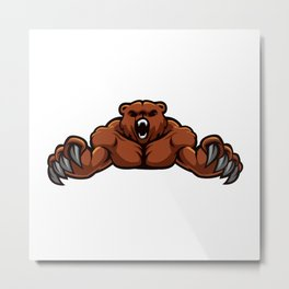 angry, ape, beast, cartoon gorilla, cartoon, gorilla, gorilla cartoon, gorilla strong, king, kong, Metal Print