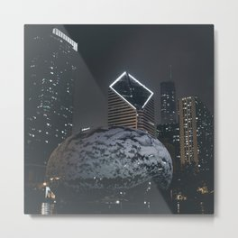 A Night of Cloud on Ice Metal Print