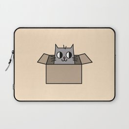 Cat in a Box Illustration Laptop Sleeve
