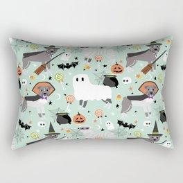 Pitbull halloween costumes pet portrait fall october cute trick or treat pitbulls Rectangular Pillow