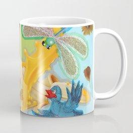 Birds, dragonfly and bananas. Coffee Mug